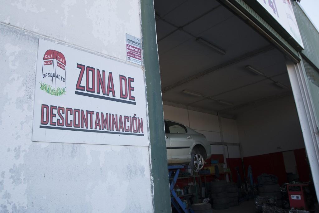 Zona de descontaminación de Desguaces N-430, La Solana, Ciudad Real.