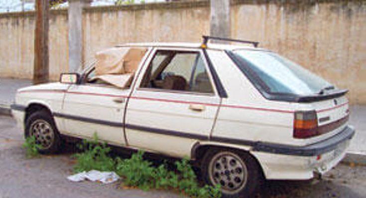 coche abandonado en la ciudad desguacesn430