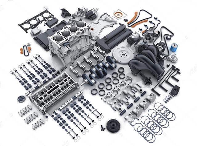 piezas con las partes de las que se compone un motor desguacen430